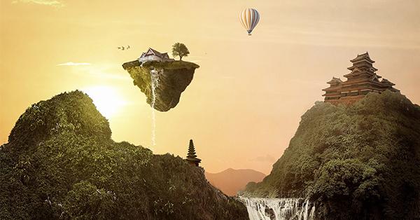 Flying island 600x314